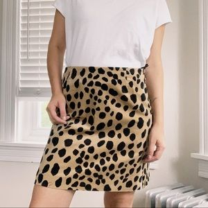 I.N.C. | Cheetah Print Faux Suede Mini Skirt Sz 6